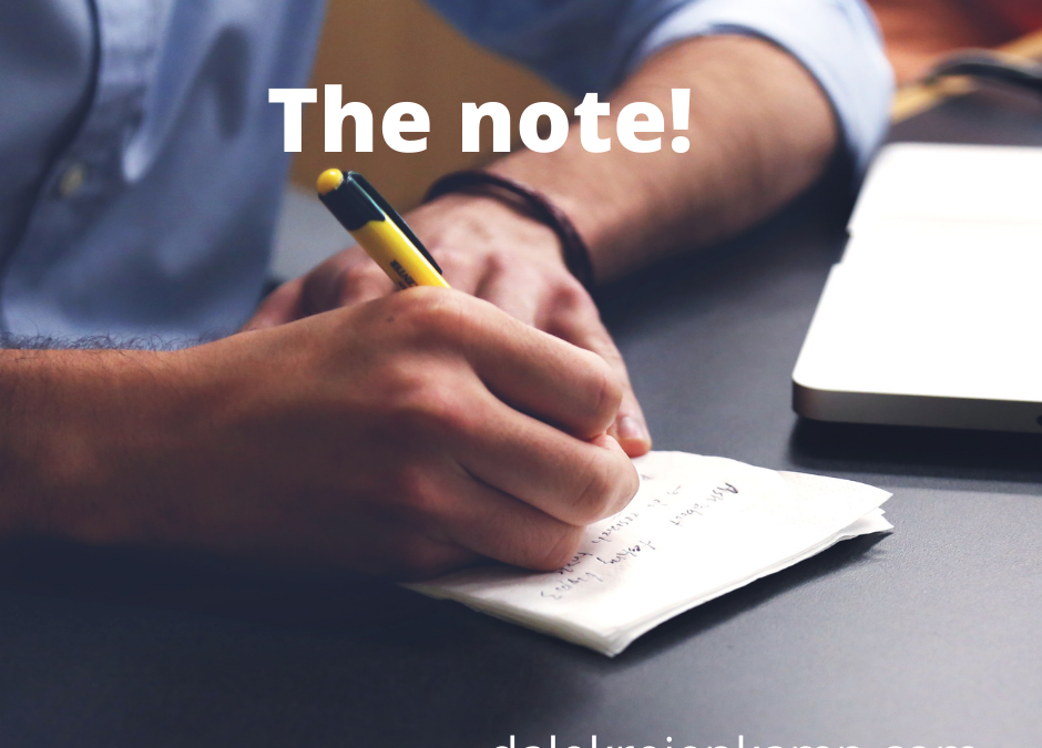 The note!