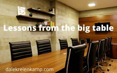 Lessons from the big table!